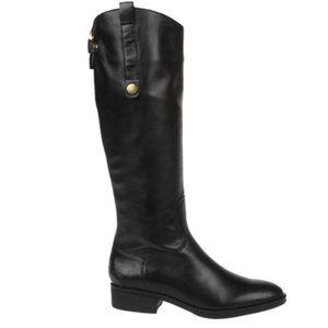 Sam Edelman Black Soft leather zip up boots